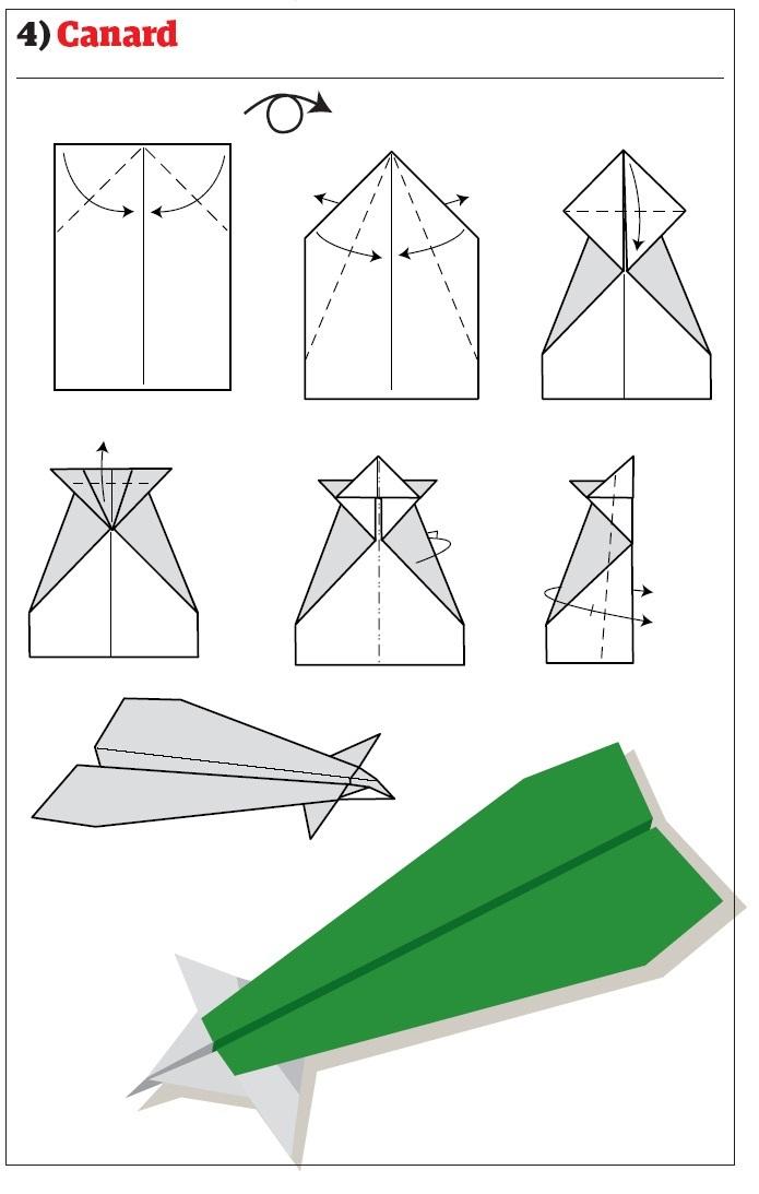 12 схем сбора самолётиков из бумаги - Блоговик